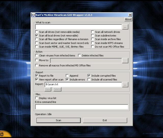 Bartpe Wrapper For Mcafee Command Line Scanner Very Easy To Use